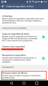 resetear un Android