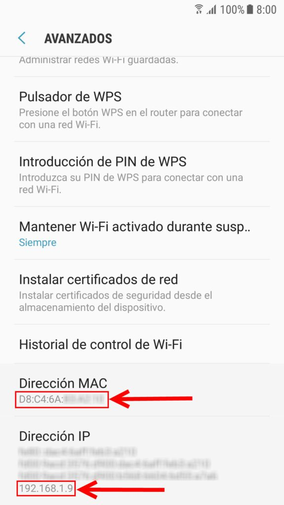 Como saber IP movil